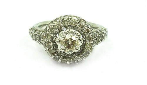 2.01 CT ROUND EGL CERTIFIED DIAMOND 10K WHITE GOLD BRIDAL RING
