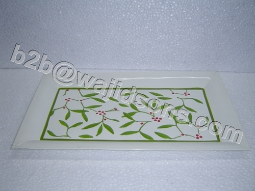 HAND PAINTED RECTANGLE TRAY