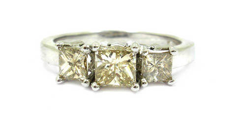 14K White Gold Diamond Rings
