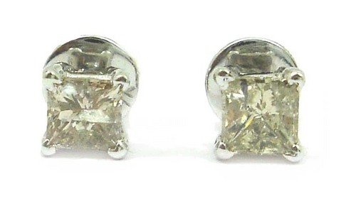 Diamond Solitaire Ear Rings