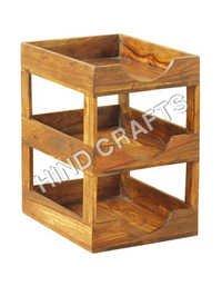 Wooden Item  Rack