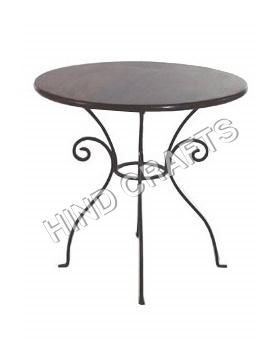 Industrial Wrought Iron Garden  Table