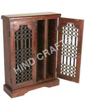 Wooden C D Cabinet with Jali