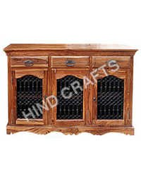 Wooden SideBoard with Jali