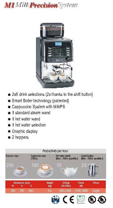 Super Automatic Coffee Machines - M1