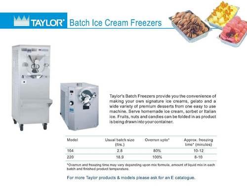 Batch Ice Cream Machines