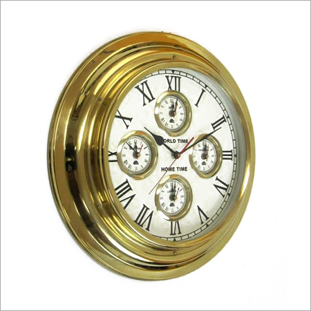 5 Time brass clock