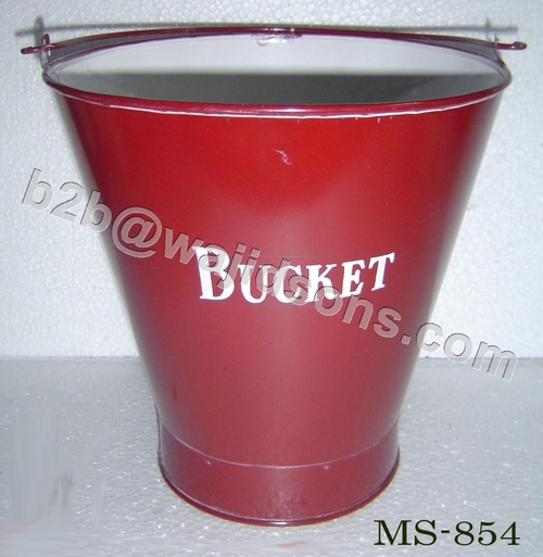 Colored Metal Buckets