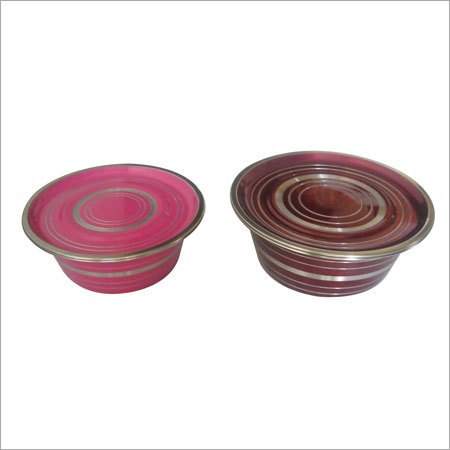 Stainless Steel Footed Bowl With Cover - SANEET STEELS, A-76
