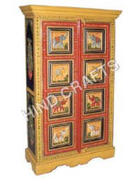 Wooden Painted Furniture- Painted Almirah