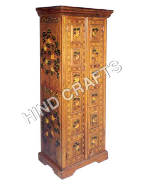 Wood Painted Furniture-Painted Almirah