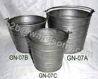 Galvanized Buckets For Flowers