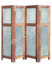 Wooden Screen with Glass