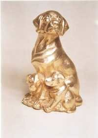 Brass Dog Sculpture