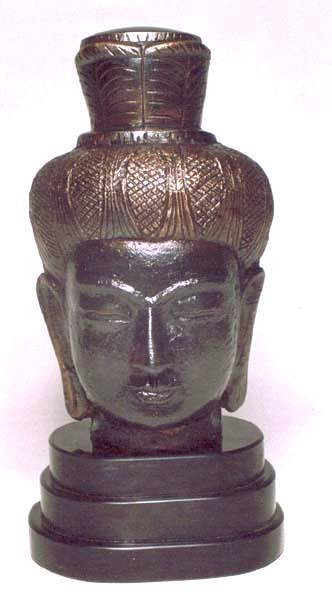 Antique Brass Buddha Head