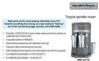 Drink Mixer - Tripple Spindle (Hamilton Beach) HMD 400 CE