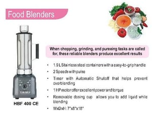 Food Blender (Hamilton Beach) HBF 600 CE