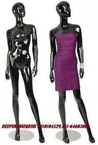 Black Glossy Female Mannequins