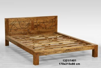 Carved Wooden Bed