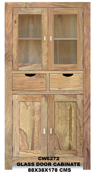 indian furniture Glass Door Cabinet