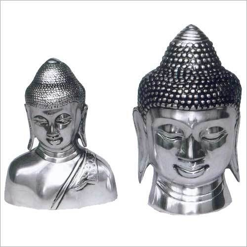 Silver Plated Buddha Heads