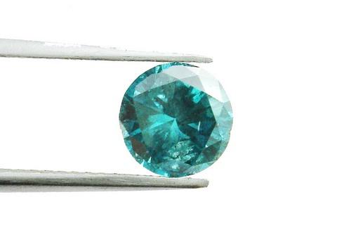 0.26 CT FANCY CARIBBEAN BLUE ROUND LOOSE DIAMOND