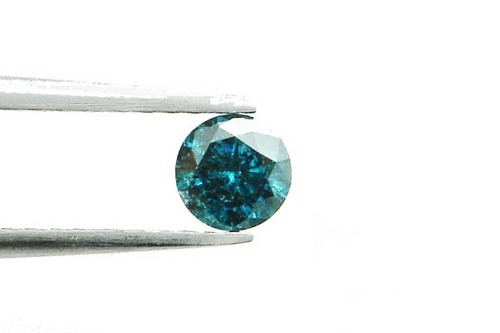 0.40 CT FANCY CARIBBEAN BLUE ROUND LOOSE DIAMOND