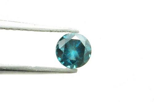 0.43 CT FANCY CARIBBEAN BLUE ROUND LOOSE DIAMOND