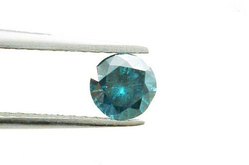 0.48 CT FANCY CARIBBEAN BLUE ROUND LOOSE DIAMOND