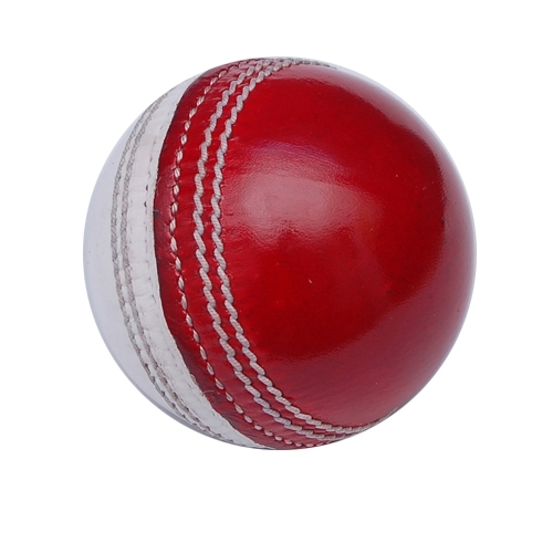 Red & White Cricket Ball
