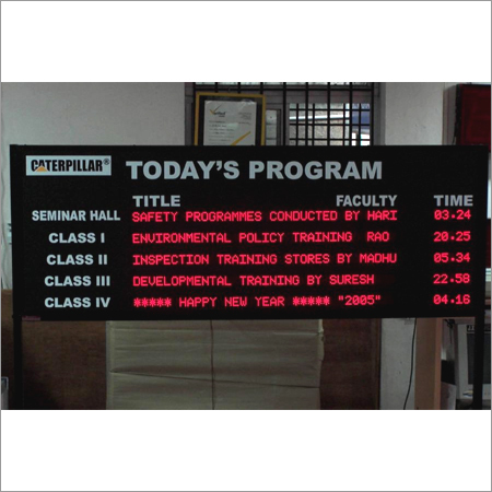 Led Message Moving Display