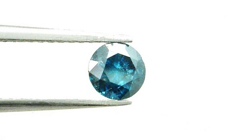 0.52 CT FANCY CARIBBEAN BLUE ROUND LOOSE DIAMOND