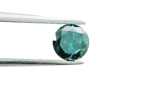 0.53 CT FANCY CARIBBEAN BLUE ROUND LOOSE DIAMOND
