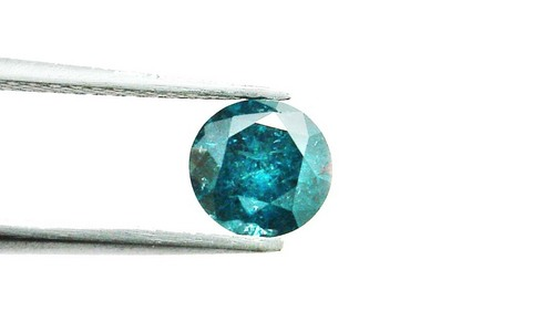 0.75 CT FANCY CARIBBEAN BLUE ROUND LOOSE DIAMOND