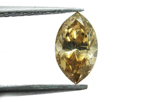 0.76 CT FANCY BROWN SI3-I1 MARQUISE LOOSE DIAMOND