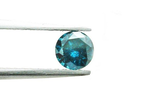 0.83 CT FANCY CARIBBEAN BLUE ROUND LOOSE DIAMOND