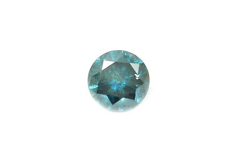 0.93 CT FANCY CARIBBEAN BLUE ROUND LOOSE DIAMOND