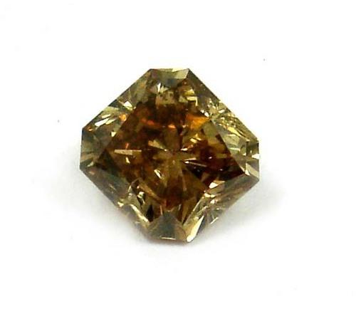 1.03 CT DARK ORANGISH BROWN ASSCHER CUT DIAMOND