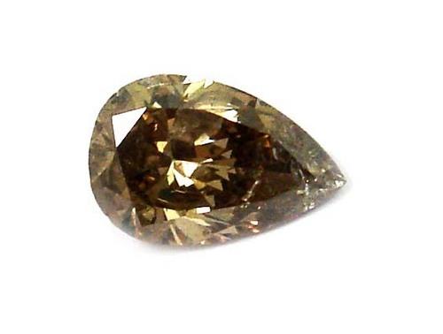 1.03 CT FANCY BROWN PEAR SHAPE LOOSE DIAMOND
