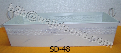 Rectangular Tray to hold pots with handle Zink Colored. Can also be used for other uses