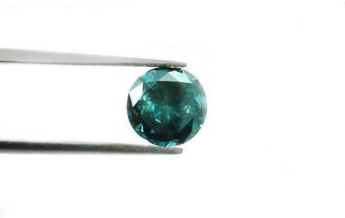 1.36 CT FANCY CARIBBEAN BLUE ROUND LOOSE DIAMOND