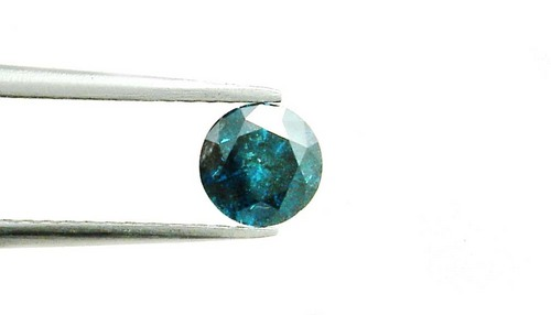1.45 CT FANCY CARIBBEAN BLUE ROUND LOOSE DIAMOND