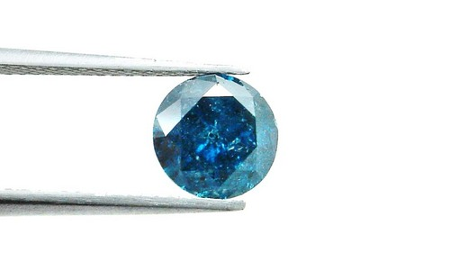 1.51 CT FANCY CARIBBEAN BLUE ROUND LOOSE DIAMOND