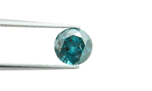 1.55 CT FANCY CARIBBEAN BLUE ROUND LOOSE DIAMOND