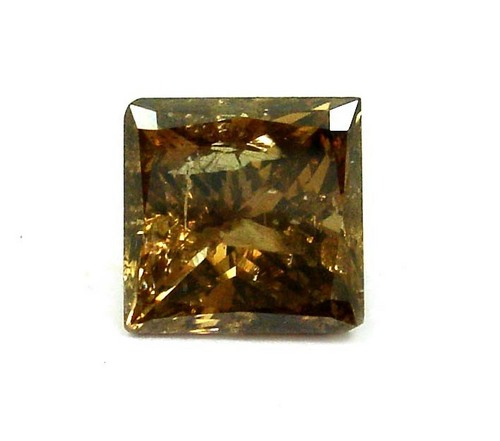 2.01 CT COGNAC BROWN I2 PRINCESS LOOSE DIAMOND