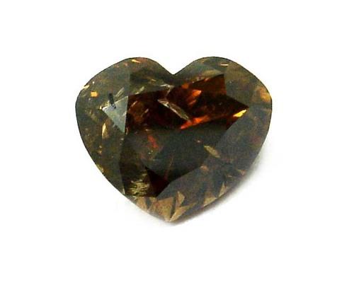 2.05 CT DARK ORENGISH BROWN I2 HEART LOOSE DIAMOND