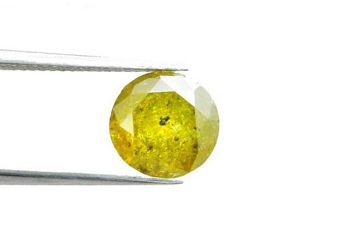 3.03 CT. FANCY YELLOW ROUND LOOSE DIAMOND
