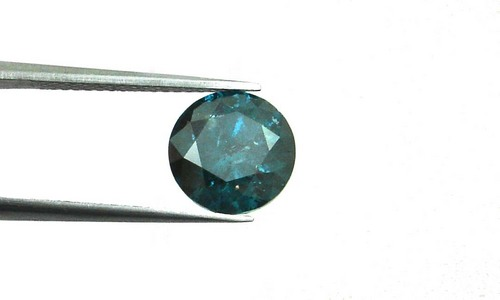 3.08 CT. FANCY CARIBBEAN BLUE ROUND LOOSE DIAMOND