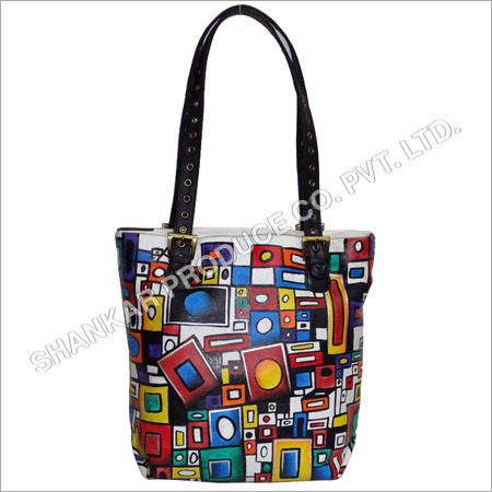 Leather Hand Painted Women Shoulder Bag