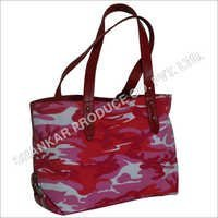 Printed Canvas Tote leather Bags